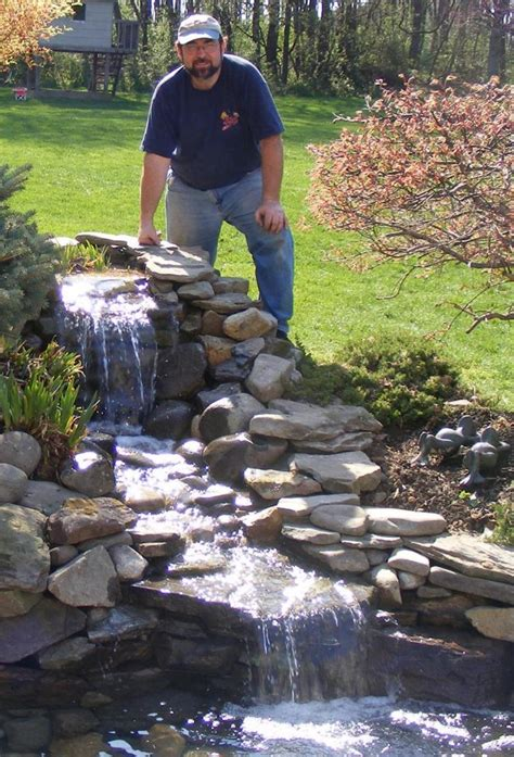 How To Make A Backyard Waterfall by Home And Garden How To Make A Pond In Garden