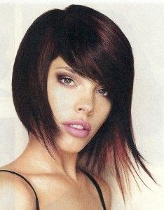 chin length edgy hairstyles edgy asymmetrical wispy chin length bob haircut this