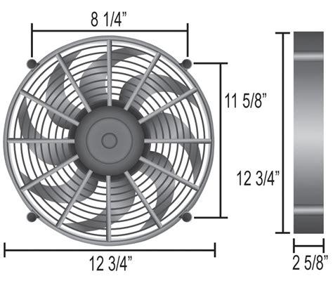 5000 cfm electric radiator fan derale 12 quot high output electric single radiator fan
