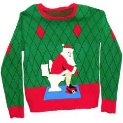 ugly christmas sweater in a box toilet santa gaggifts com