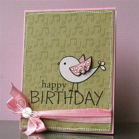 Simple Handmade Birthday Cards For Friends - gold wing necklace cards the ribbon and happy