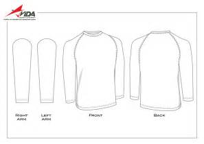 Long Sleeve T Shirt Template Sketch Coloring Page sketch template