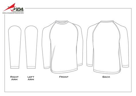 Long Sleeve T Shirt Design Template Beautiful Template Design Ideas Sleeve T Shirt Template