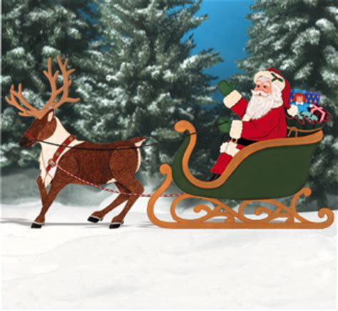wood pattern santa sleigh add to cart