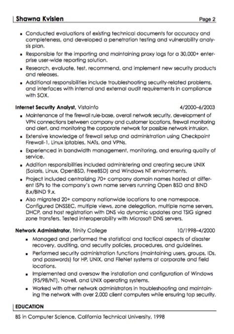 Security Specialist Resume Sample   RESUMES DESIGN