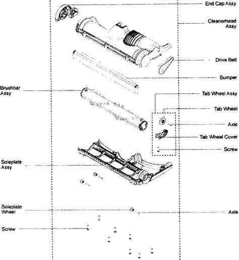 dyson parts diagram dyson vacuum replacement parts and accessories belt