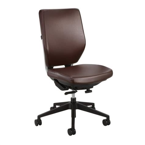 Vinyl Office Chair by Task Office Chair In Brown Vinyl 7065br