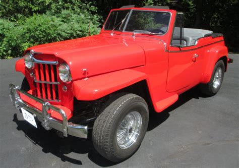 custom convertible jeep 1950 willys jeepster custom convertible v8 auto frame off