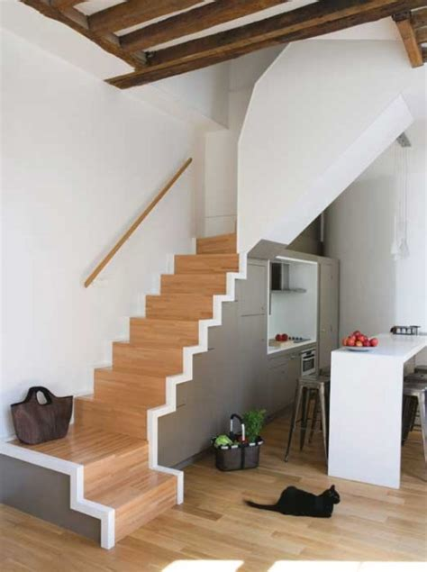 Underneath Stairs Design 7 Cool Kitchens Placed The Stairs Shelterness