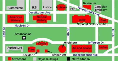 washington dc map museum smithsonian institution washington dc smithsonian museums