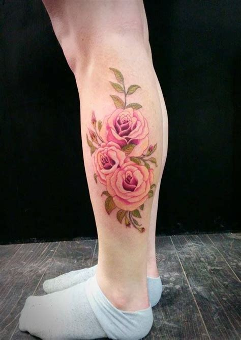 rose tattoo on calf 12 calf designs you won t miss tattoos