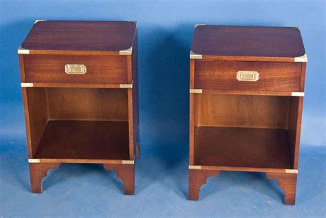 bedroom table sale pair of caign style mahogany bedside tables for sale