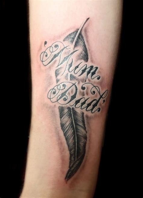 mum tattoos for men designs for feather