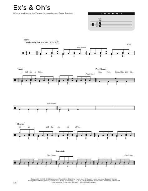 ex s oh s elle king ex s oh s sheet music