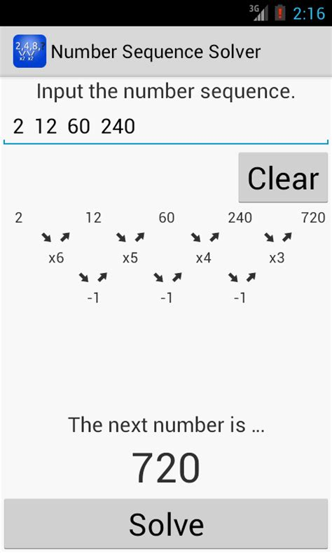 Pattern Numbers Solver   number sequence solver android apps on google play