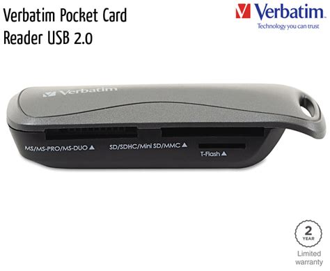 pocket reader verbatim memory cards