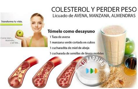 alimentos que te ayudan a bajar el colesterol batido para bajar de peso y para el colesterol tozapping