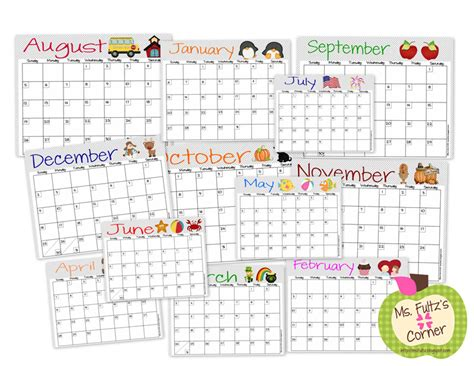 free teacher planning calendars calendar template 2016