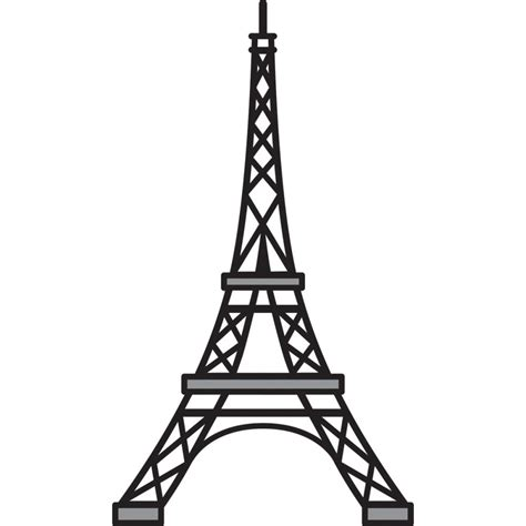 eiffel tower template eiffel tower stencil clipart best