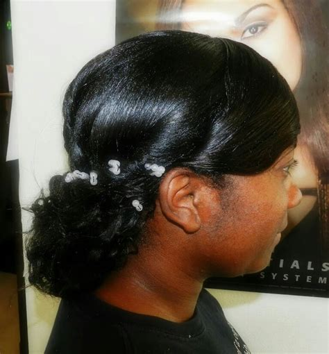Weave Updo Hairstyles by Wedding Updo Relaxer Added Curly Weave Healthy