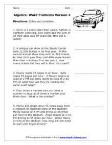 algebra based word problems version 4