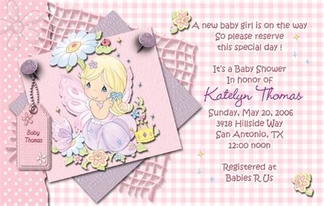 Precious Moments Baby Shower Invitations by Pink Precious Moments Baby Shower Invitations