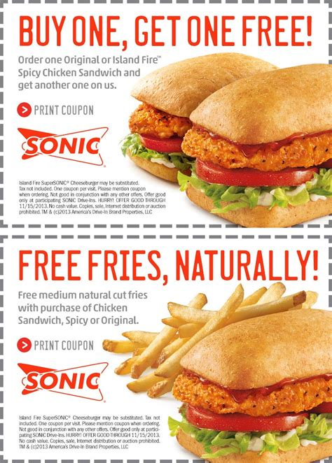 Sonic Drive In Gift Card Balance - sonic coupons fast food printable coupons online