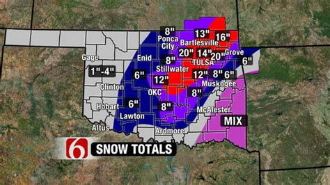 Records In Oklahoma Oklahoma Farm Report Snowfall Totals Record Large For February In Oklahoma
