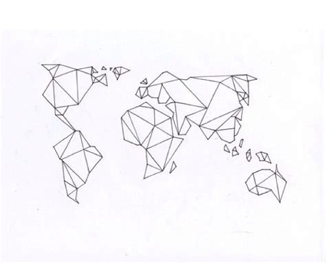 geometric pattern geography this would make a great tattoo geometric world map ink