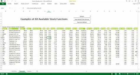 printable stock quotes 9 excel stock quotes template exceltemplates
