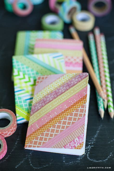 diy washi tape crafts diy washi tape notebooks and pencils