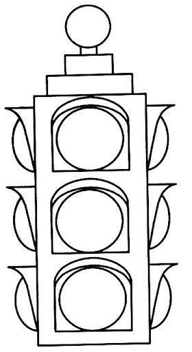 Traffic Light Coloring Page Clipart Best Traffic Light Coloring Pages