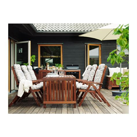 Drop Leaf Outdoor Table 196 Pplar 214 Drop Leaf Table Outdoor Brown Stained 140 200 260x78 Cm Ikea