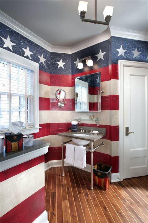 Staggering patriotic wall art decorating ideas images in bathroom traditional design ideas