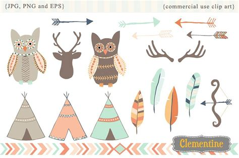 tribal clipart tribal clip illustrations creative market
