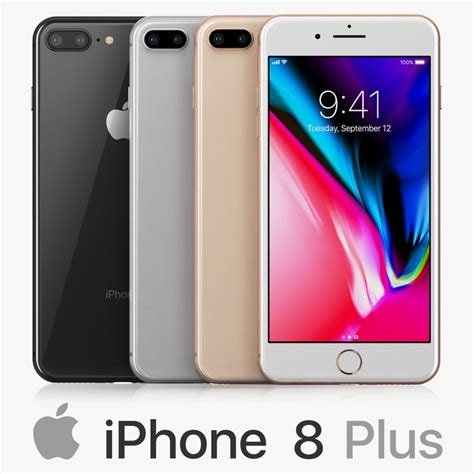 iphone 8 colors apple iphone 8 colors 3d turbosquid 1209281
