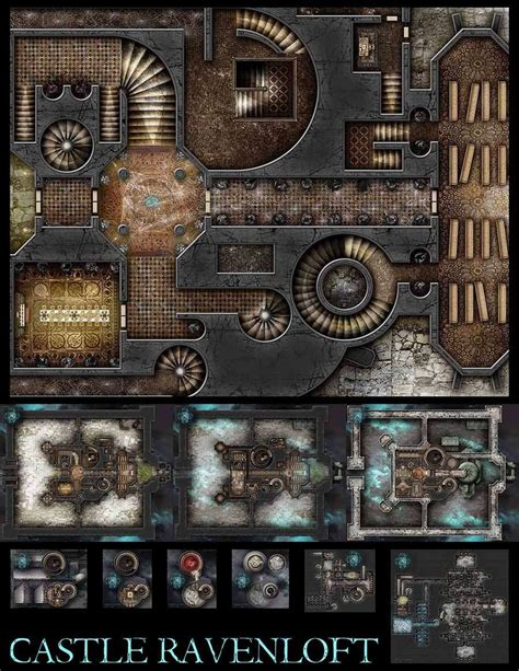 Pantheon Floor Plan by Castle Ravenloft Hires Colour Jpg Maps Dungeon Masters