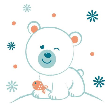 sticker chambre bebe garcon sticker mural quot ours polaire quot motif b 233 b 233 gar 231 on pour