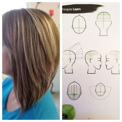 how to section hair for cutting triangular layers section hair into four part sections