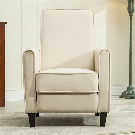 recliner chairs living room rv recline club chair home furniture theater beige ebay