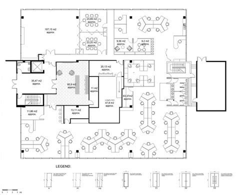 layout of the office drawn office office layout pencil and in color drawn