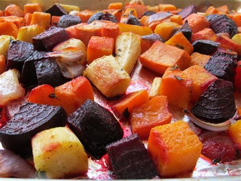 roasted root vegetable oven roasted root vegetables colorful seasonal