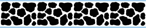 Polka Dot Wall Stickers decamp studios cow wallpaper border blue wall decals