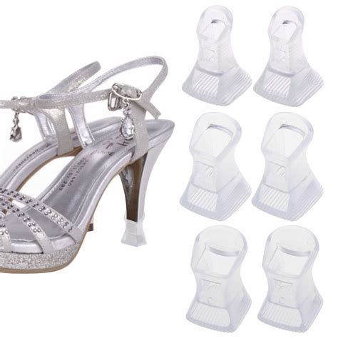 high heel covers 3 pairs footful clear stiletto high heel protectors covers