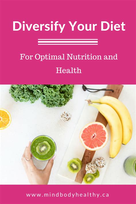 Optimal Health Detox Program by Diversify Your Diet For Optimal Health Mind Healthy