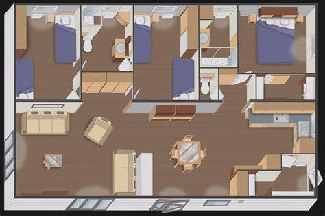 mobil home 3 chambres 2 salles de bain mobil home vente mobil home achat et location de parcelles