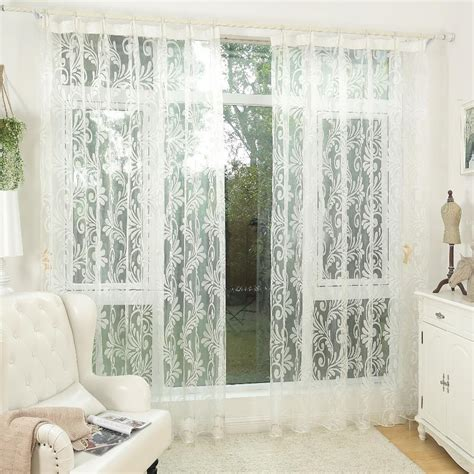 kitchen window curtain panels white curtain tulle panel sheer yarn curtain window blinds