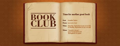 book club invitation template clubs groups free invitations