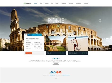 Html5 Travel Templates travel agency responsive html5 template by dajydesigns