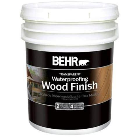 behr 5 gal cedar naturaltone waterproofing wood finish 40105 the home depot